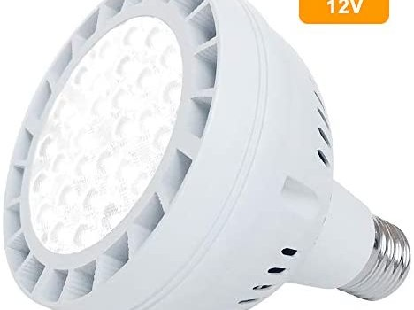 12V 50W LED Pool Light for Inground Swimming Pool, 5000LM Daylight Swimming Pool LED Light Bulb Replacement for 300-800W Traditional Bulb, Fit in for Pentair and Hayward Pool Light Fixtures(AC/DC 12V)