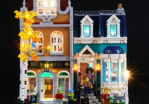BRIKSMAX Led Lighting Kit for Creator Bookshop – Compatible with Lego 10270 Building Blocks Model- Not Include The Lego Set