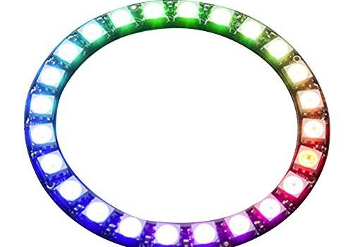 RGB LED Ring 24-Bit WS2812 5050 RGB LED Ring Lamp Light with Integrated Drivers 5V DC 5.3CM/2IN 6.5CM/2.5IN