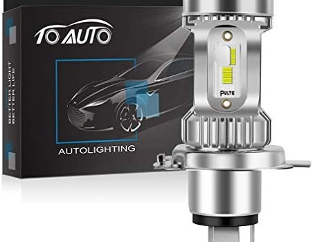 H4 LED Headlight Bulb Motorcycle Newest CSP Chips 3200LM 20W 6000K 9003 HB2 HS1 P43t High/Low Beam Motorbike Headlamp Conversion Kit Super Bright White