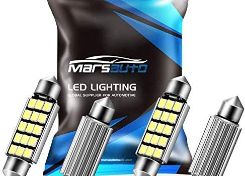 Marsauto 578 LED Bulbs Extremely Bright 400LM 2835 Chipsets for LED Interior Dome Map Door Lights Bulbs 211-2 212-2 569 6411 6451 41mm 42mm 1.59inch 6500K White (Pack of 4)