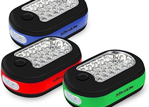 3X 27 LED Compact Work Light Magnetic W/Hook – 3 Pack by AlltroLite