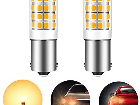 1156 P21W 1003 7506 1141 9-30V BA15S led bulb replacement for RV, motorhome marine mower lawn tractor 4W 550lm super bright replacement 60W WarmWhite 3000K Pack of 2