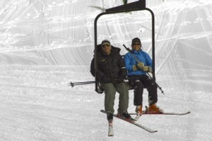 Theresa and Bruce on the Badger Chair