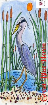 great blue heron banner mock