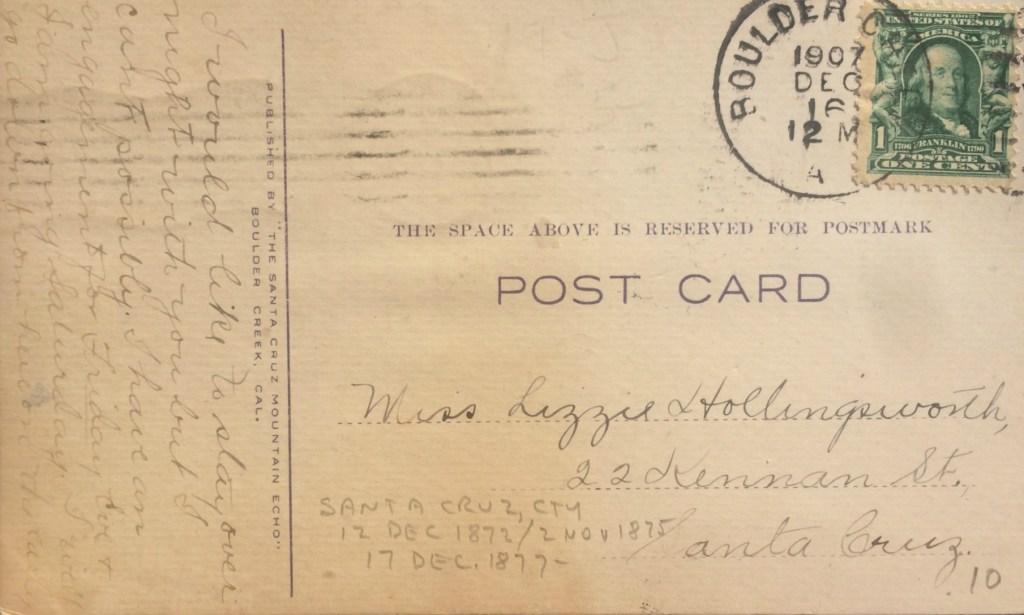 Boulder Creek Falls Post Card