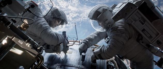Gravity Movie Still 1 - Sandra Bullock & George Clooney