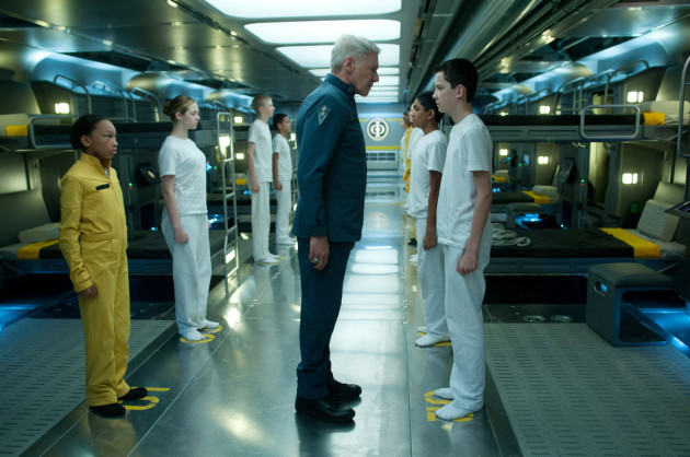 Ender's Game Movie Still 1 - Asa Butterfield & Harrison Ford