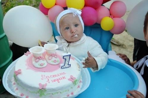 день рождения один год торт
