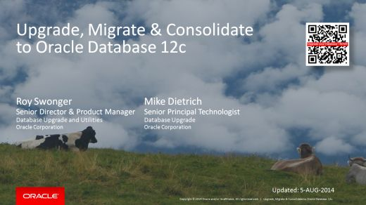 New version of the UPGRADE 12c SLIDE DECK available