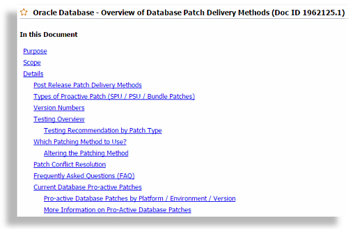 MOS Note - Patch Delivery Methods
