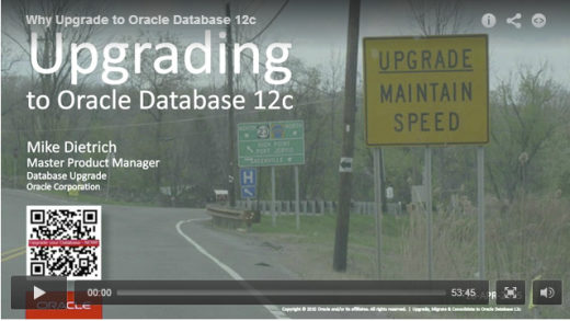 Webcast Why Upgrade To Oracle Database 12c - Mike Dietrich, April 2015