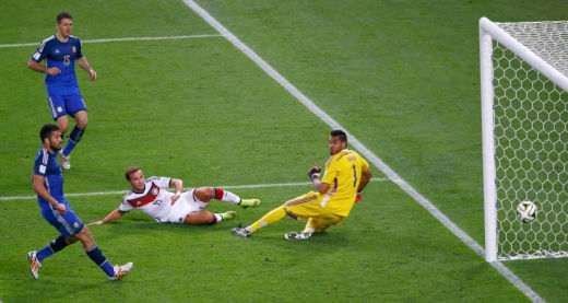Germany World Cup 2014 Goal Argentina Mario Götze
