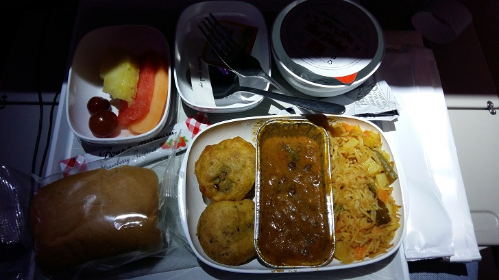 Emirates Asian Veg Meal - DXB to CDG
