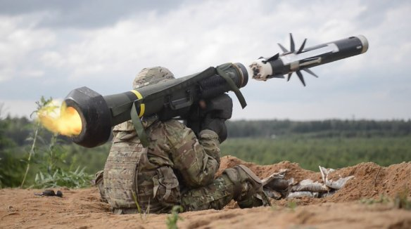 Soldier fires a Javalin Missile
