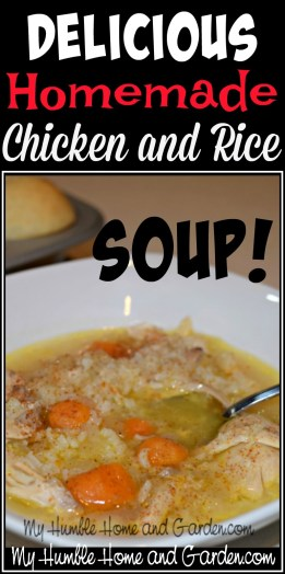 Delicious Homemade Chicken and Rice Soup on MyHumbleHomeandGarden.com