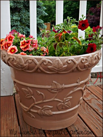 DIY Planter Makeover - Paint Your Tired Pots! on MyHumbleHomeandGarden.com