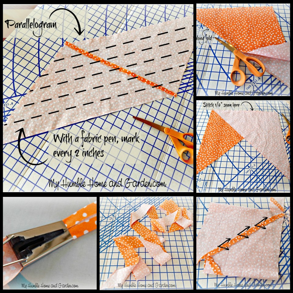 Step by Step Directions For Making Continuous Double Fold Bias Tape