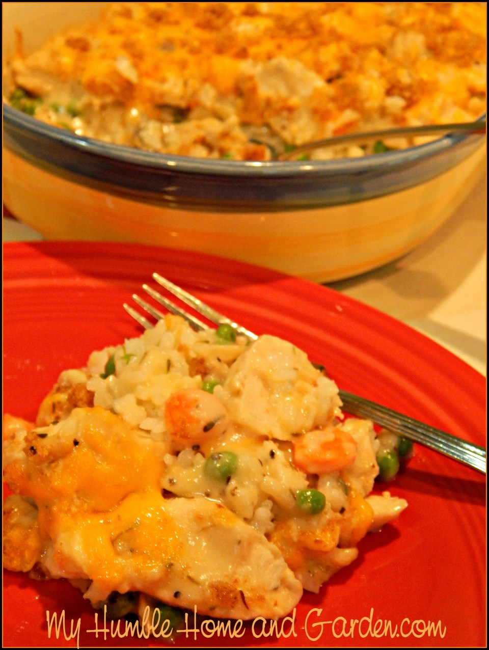 The Best Chicken And Rice Casserole on MyHumbleHomeandGarden.com
