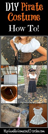 DIY Pirate Costume - How To - on MyHumbleHomeandGarden.com