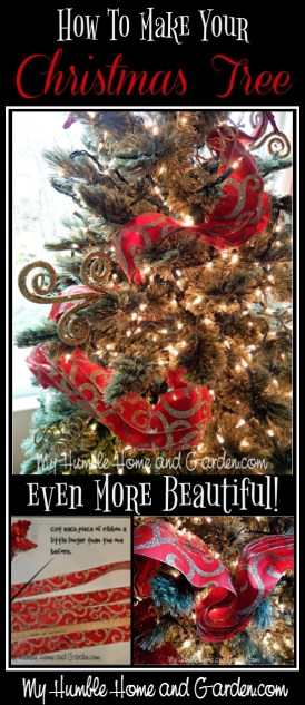 How To Make Your Christmas Tree Even More Beautiful! on MyHumbleHomeandGarden.com