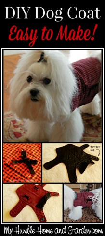 Diy Dog Coat Easy To Make And Stylish My Humble Home And Garden