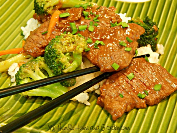 Beef and Broccoli in Oyster Sauce Stir-Fry on MyHumbleHomeandGarden.com