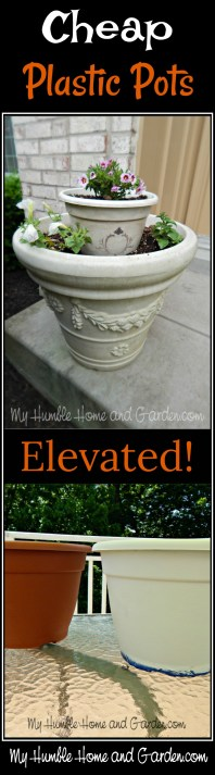 Cheap Plastic Pots Elevated on MyHumbleHomeandGarden.com