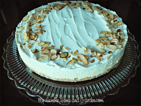 Cheesecakes - Delicious Almond Cheesecake on MyHumbleHomeandGarden.com