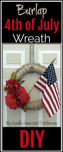 Burlap 4th of July Wreath - DIY on MyHumbleHomeandGarden.com