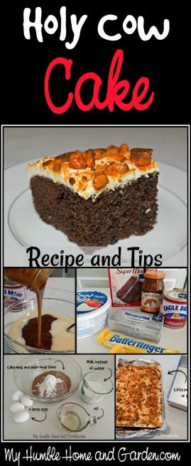 Holy Cow Cake Recipe on MyHumbleHomeandGarden.com