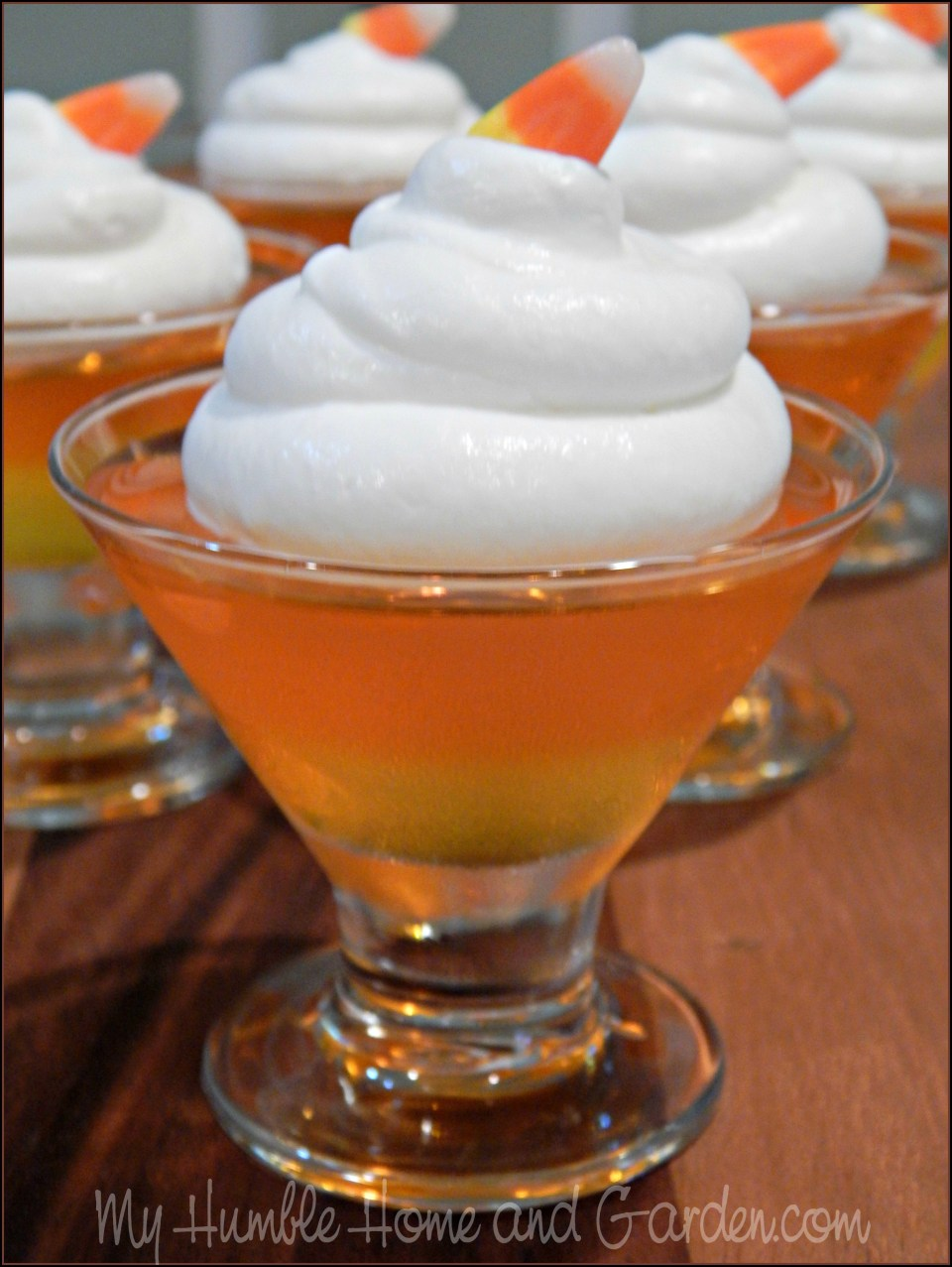 Candy Corn JELL-O Mini Desserts