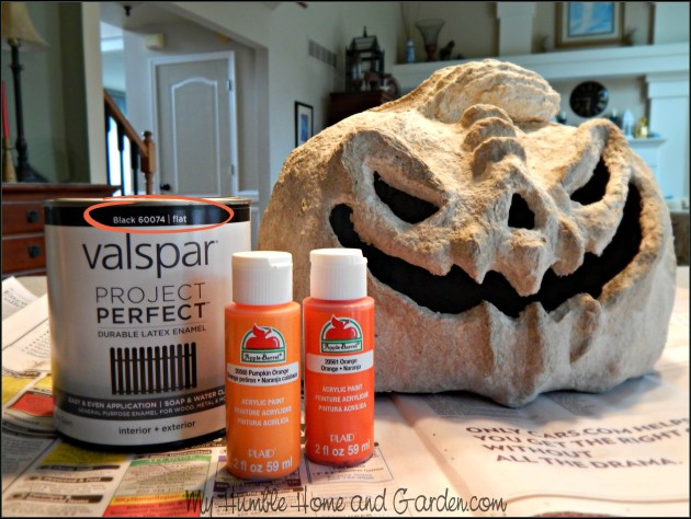 Papier-mâché Pumpkins and How To Paint on MyHumbleHomeandGarden.com