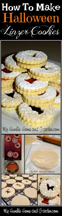 How To Make Halloween Linzer Cookies on MyHumbleHomeandGarden.com