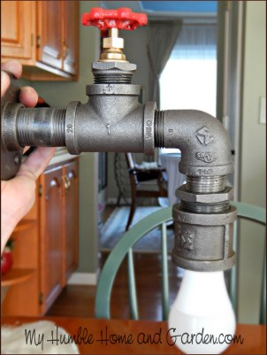 How To Create Your Own AMAZING Industrial Lamp -Industrial Pipe Lamp on MyHumbleHomeandGarden.com