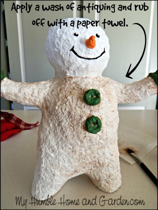 How To Make A Papier-mâché Lady Snowman on MyHumbleHomeandGarden.com