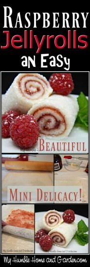 Raspberry Jelly Rolls - An Easy Beautiful Mini Delicacy on MyHumbleHomeandGarden.com