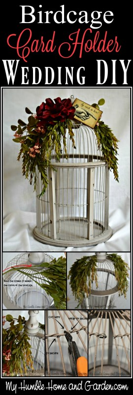 Birdcage Card Holder - Wedding DIY To Make Yours Unique - My Humble ...