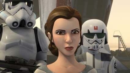 Princess Leia in Star Wars Rebels. Photo Courtesy of Lucasfilm