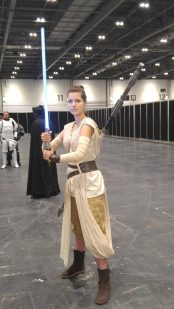 Rey (My first photo of the convention. She can be seen in the closing ceremonies video!)