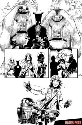 Doctor Aphra #1 Panel Sketch Preview