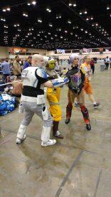 Old Man Rex, Hera, and Sabine (with cool darksaber prop!!)