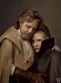 Vanity Fair The Last Jedi Photo Shoot Luke and Leia