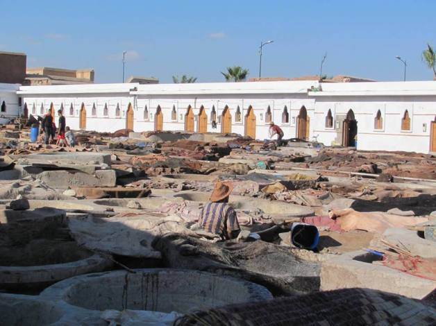 Tanneries in Marrakech