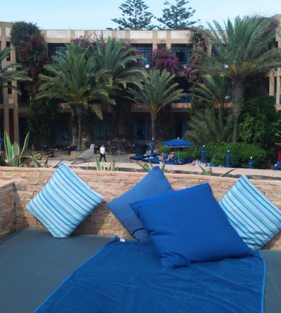 My day bed by the pool