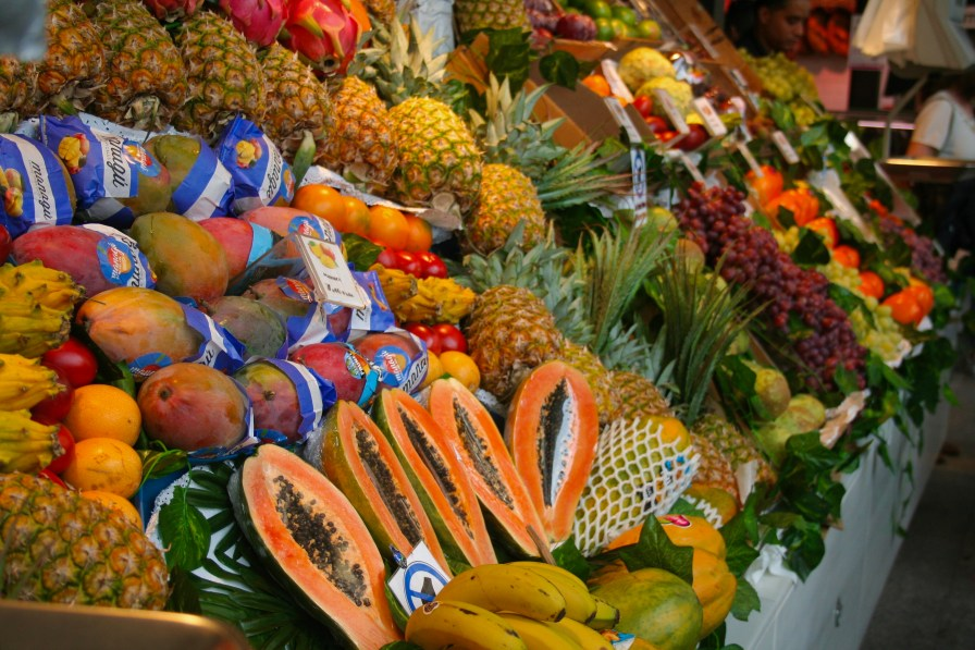 Stunning displays of fresh fruit