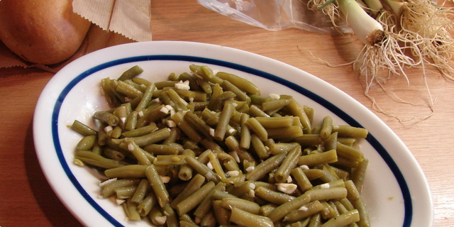Priprema salate od mahuna