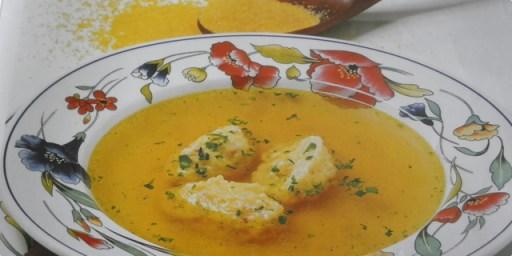 juha s žličnjacima od kukuruzne krupice