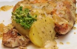 Piletina u vrhnju s paprikom