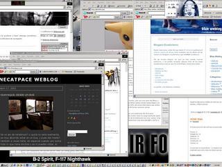 Mi desktop, la mayoria de weblogs son en tonos claros